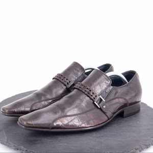 Aldo mens brown dress loafers size 9